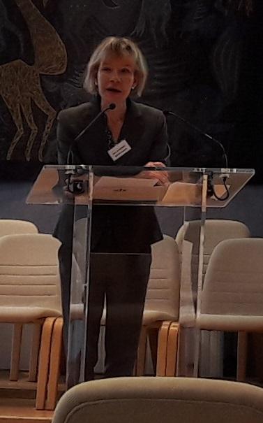 Accueil par Isabelle Banderet, déléguée de section de la CRC Ile-de-France