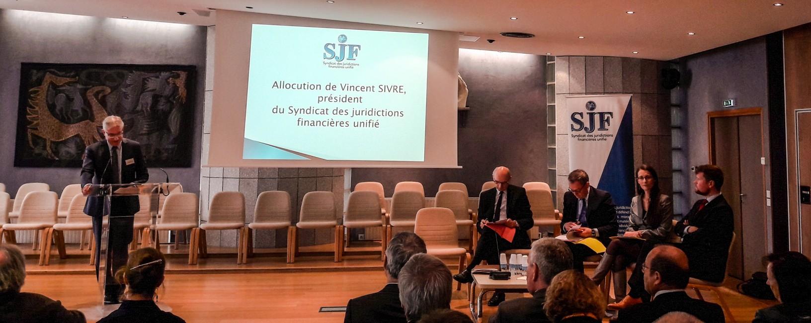 VIncent Sivré accueille Didier Migaud au congrès du SJFu